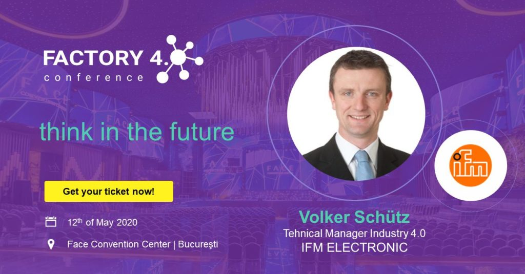 Poster of IFM Electronic as a partner for Factory 4.0 Conference