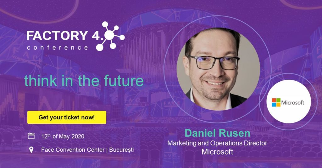 Poster of Microsoft Romania as event partner